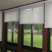 Three Sets of Roll-Down Blinds